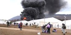 Bosnisches Flüchtlingslager Lipa in Brand gesteckt