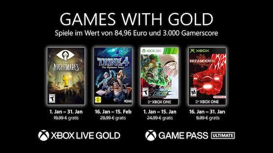 Games with Gold im Jänner.