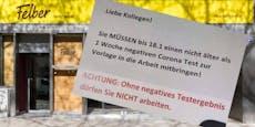 1. Wiener Firma verhängt Arbeitsverbot ohne Coronatest