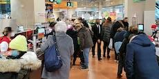Weihnachts-Ansturm auf Supermärkte vor Lockdown