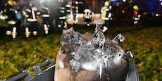 Gasflasche fing Feuer – Haus nicht bewohnbar