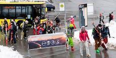 Masken-Sportler stürmen heute die Skigebiete