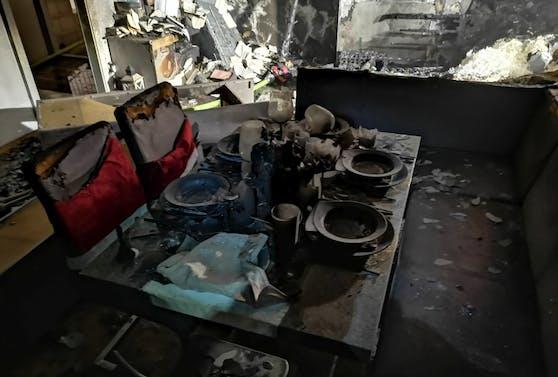 Die gesamte Wohnung stand in Brand.