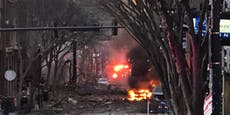 Heftige Explosion verwüstet Straße in Nashville