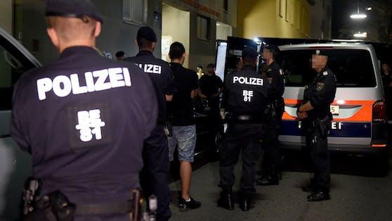 Ein Polizei-Einsatz in Wien.