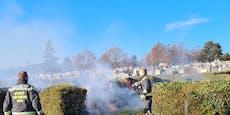 Brand-Alarm! Baumgartner Friedhof steht in Flammen