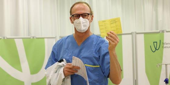 Geimpft: Christoph Wenisch, Leiter Infektionsabteilung Klinik Favoriten