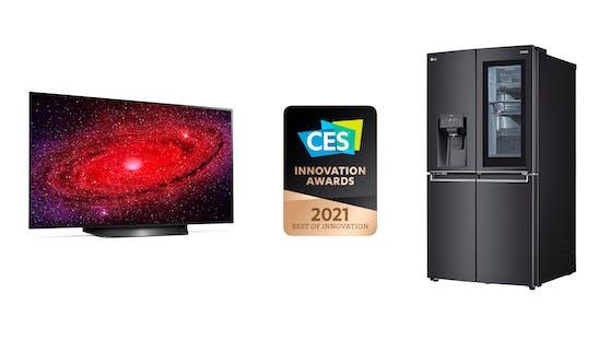 LG mit CES Innovation Awards 2021 ausgezeichnet.