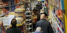Supermärkte auch am Lockdown-Sonntag gesteckt voll