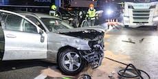 Betonlaster überrollt Unfallopfer auf Westautobahn – tot