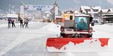 Mann bricht auf 24 cm dicker Eisbahn ein