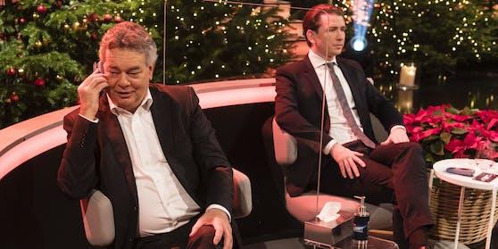 Vizekanzler Werner Kogler neben Sebastian Kurz