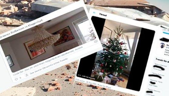 So kommentiert Österreich das Beben in den Sozialen Netzwerken.
