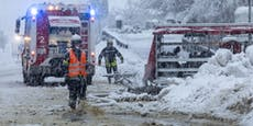 Nächste Warnung! Schnee hält Einsatzkräfte auf Trab