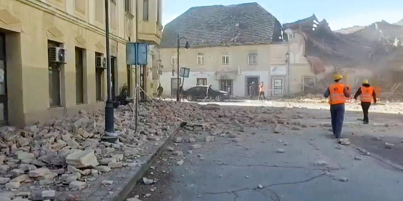 Feuerwehrleute aus NÖ helfen nach Erdbeben in Kroatien ...