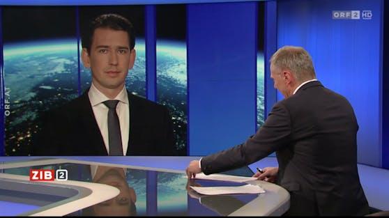Sebastian Kurz bei Armin Wolf in der ZIB 2.