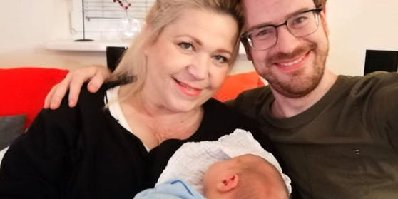 Susanna Hirschler, ihr Verlobter Felix und Sohn Gabriel
