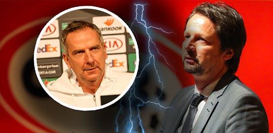 Peter Schöttel weist die Vorwürfe von Dominik Thalhammer zurück.