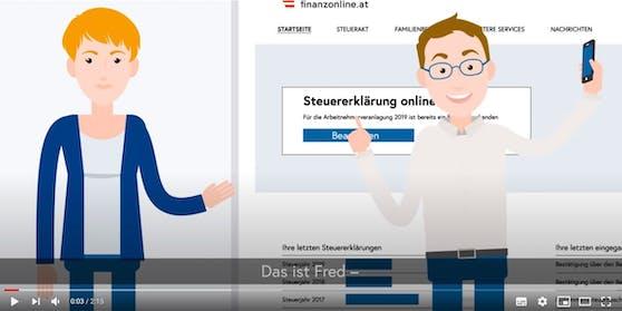 """FinanzOnline mit """"Fred"""" liegt auf Platz 3 der """"Top Trending Videos in Österreich 2020""""."""