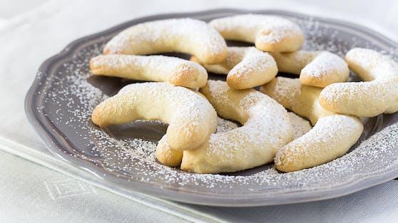 Vanillekipferl sind ein traditionelles Weihnachtsgebäck.