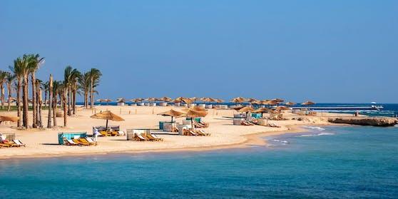 Ein Strand in der Nähe von Marsa Alam, Ägypten