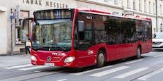Bus-Notbremsung wegen Radler – 2 Fahrgäste verletzt