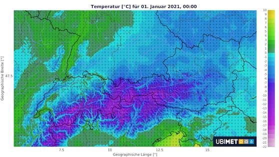 Temperatur für Neujahr