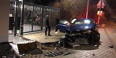 Alko-Raser (19) schrottet Audi genau vor Polizei