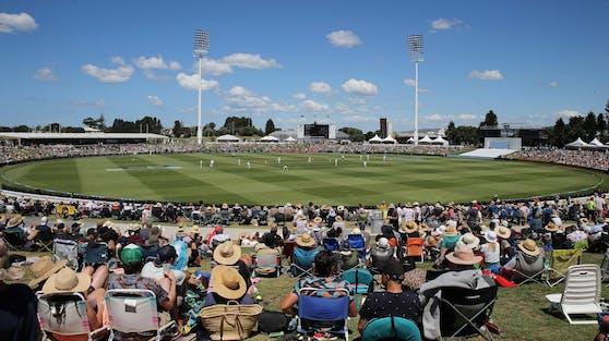 Menschen bei einem Cricketspiel in Neuseeland vor wenigen Tagen