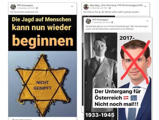 Diese Fotomontage von Kurz postete FPÖ-Gemeinderat Niko Steinberg.