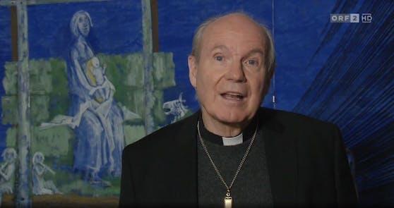 Kardinal Christoph Schönborn im Rahmen seiner Silvester-Ansprache.