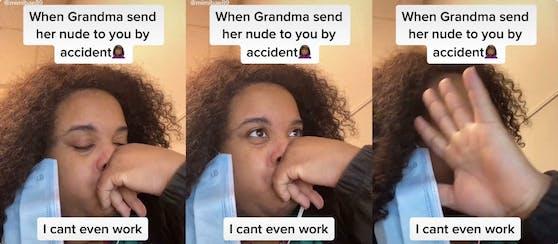 Wie soll man reagieren, wenn die eigene Oma einem unabsichtlich Nacktfotos von sich zukommen lässt?
