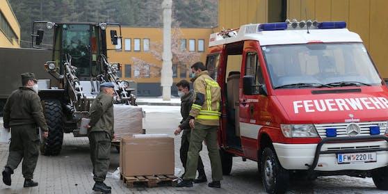 Vorbereitungen auf die Massentests in Innsbruck