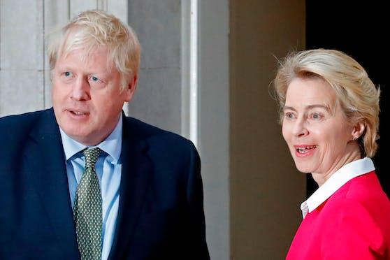 Ursula von der Leyen und Boris Johnson im Januar in London.