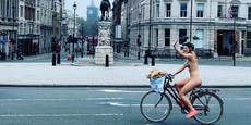 25-Jährige radelt nackt durch London – nicht ohne Grund