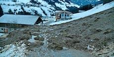 Murenabgang und höchste Lawinengefahr in Tirol