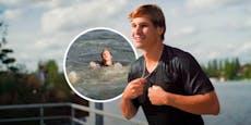 Wincent Weiss springt mitten im Interview ins Wasser