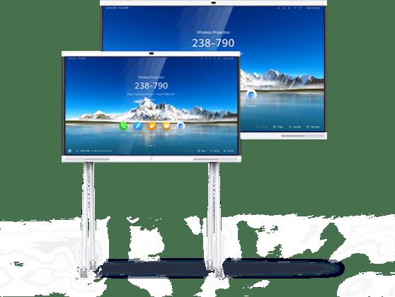 Der IdeaHub verfügt über KI-Features, wie etwa eine virtuelle Schallunterdrückungsbarriere.