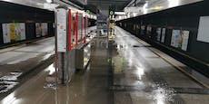 Wasserrohrbruch legt gleich zwei U-Bahnen in Wien lahm