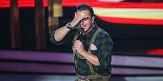 Gabalier jammert, weil sein Gesang kritisiert wird