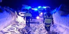 Arbeiter bei Einsatz im Schnee-Chaos schwer verletzt