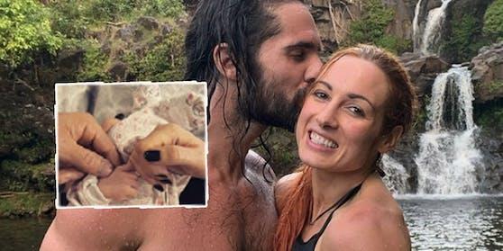Seth Rollins und seine Verlobte Becky Lynch.