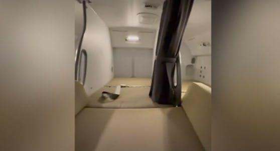 So schauen die Schlafkabinen der Stewardessen aus