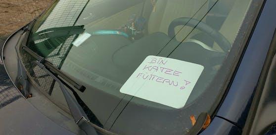 Diese Autofahrerin hatte scheinbar keinen Parkschein zur Hand