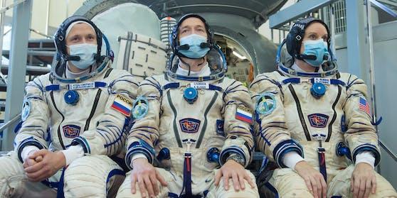 Russlands Astronauten auf dem Weg zur ISS Raumstation
