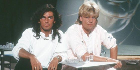 """Thomas Anders (links) und Dieter Bohlen schrieben in den 1980ern als Duo """"Modern Talking"""" Musikgeschichte"""