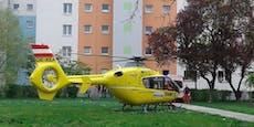Baby in Wien reanimiert und ins Krankenhaus geflogen