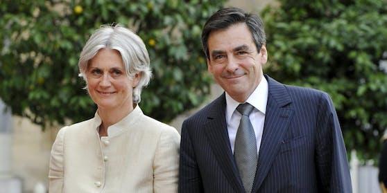 13. Juni 2008: Francois Fillon mit seiner Ehefrau Penelope Clarke