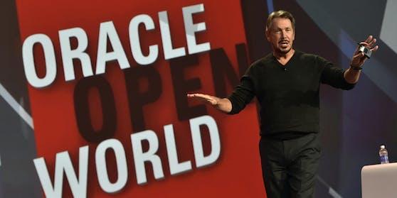 Larry Ellison (72) ist Gründer und größter Anteilseigner der US-Softwareschmiede Oracle - und ein Trump-Fan.