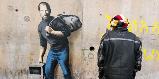 Banksy-Graffiti in Calais: Steve Jobs als Flüchtling unter Flüchtlingen